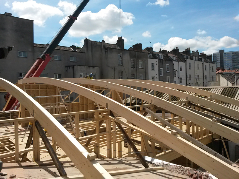 Wellington Lane glulam beams