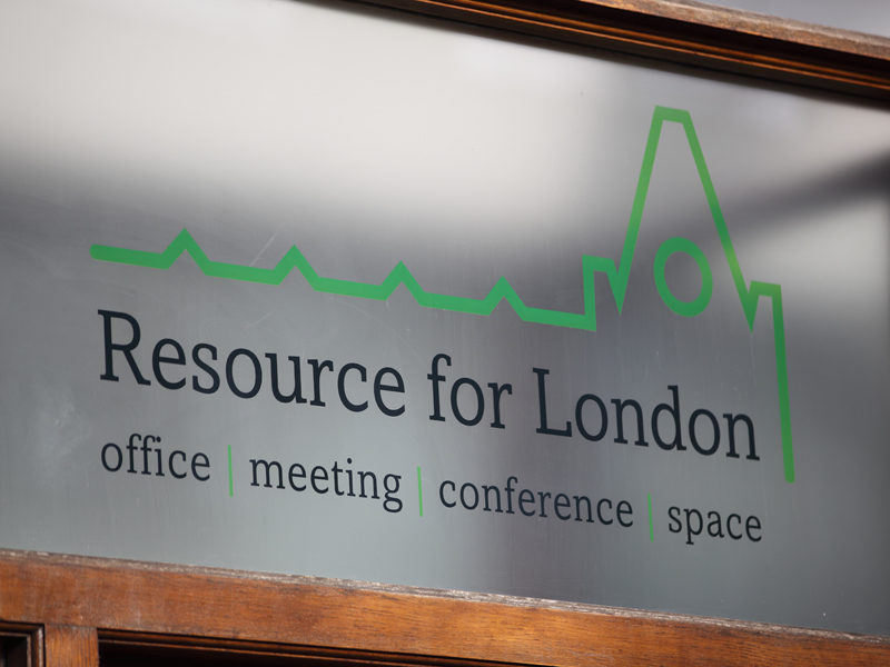 Resource For London sign